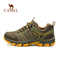 camel骆驼运动系带舒适跑鞋 情侣款减震透气男女款运动休闲鞋