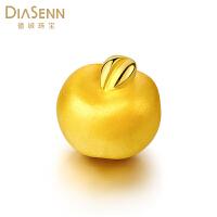 德诚珠宝 新品黄金足金3D硬金苹果转运珠手链 平安夜礼物送女友