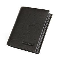 男士钱包短款加厚加围大容量竖款皮夹韩版潮票夹