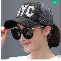 鸭舌帽潮人学生棒球帽女士网帽帽子女夏天韩版百搭街头休闲遮阳帽可礼品卡支付