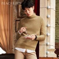 【2件2.5折】太平鸟男装 冬装青年保暖半高领中领毛衣韩版针织衫男士时尚毛衫