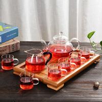 汉馨堂 茶具套装 整套耐热玻璃功夫茶具套装水果花茶壶不绣钢过滤红茶泡茶器飘逸杯