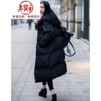 棉衣女中长款2018新款韩版棉袄bf宽松加厚过膝学生ins面包服