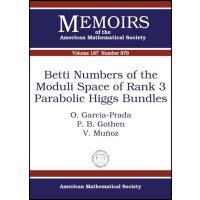 【预订】Betti Numbers of the Moduli Space of Rank 3 Parabolic H