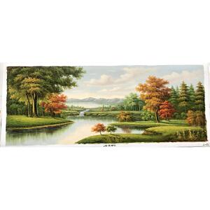 风景油画作品  70X180-071
