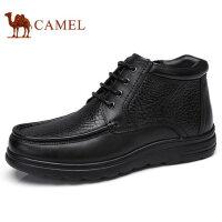camel骆驼男鞋时尚轻盈加绒保暖商务皮靴缓震牛皮日常休闲皮鞋