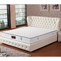 酒店家用乳胶床垫 1.5米独立弹簧棕垫海绵椰棕席梦思 白色针织布 乳胶 独立圆簧 不拆洗