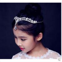 闪亮精致气质百搭持久耐用礼服水晶皇冠儿童头饰公主额头链女童发饰吊坠
