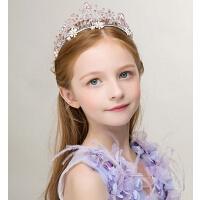 新款时尚儿童发饰女童头饰 女孩公主冠花环花童发箍水钻