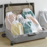 卡通旅行收纳袋双层抽绳束口袋创意家用出差防水内衣整理袋