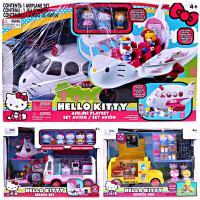 hello kitty凯蒂猫飞机快餐车救援车女孩过家家儿童玩具