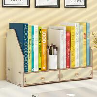 书架简易桌上学生用儿童文件架资料架桌面木质A4创意办公室多层收纳架办公用品