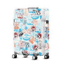 2018新款欧美复古风拉杆箱女士行李箱万向轮旅行箱密码登机箱