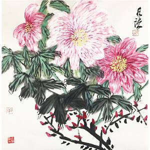 何水法《花开富贵》著名画家