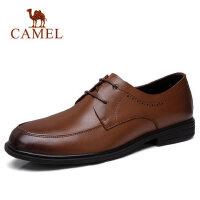camel 骆驼男鞋春季新品柔软缓震全软面轻便舒适商务正装皮鞋