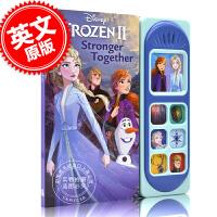 现货 冰雪奇缘2有声书 迪斯尼同名电影 儿童趣味唱读绘本 英文原版 暗影森林 Disney Frozen 2 Litt