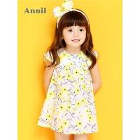 【2件35折:77】安奈儿童装女小童夏季新款短袖梭织连衣裙TG823204