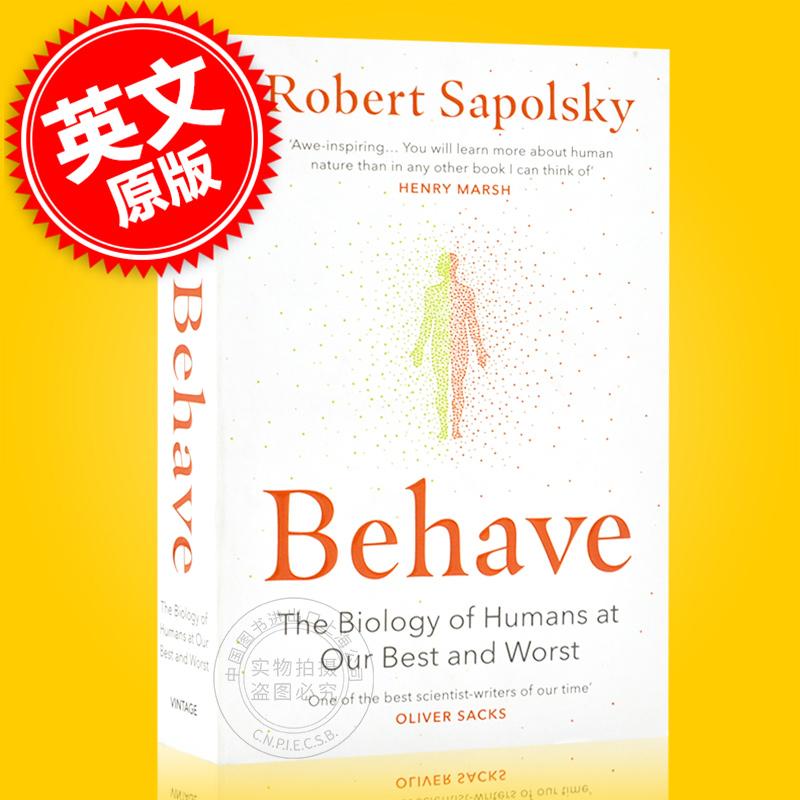 现货 行为 暴力 竞争 利他 人类行为背后的生物学 英文原版 Behave:The Biology of Humans罗伯特·萨波斯基 Robert M Sapolsky 现货!行为 暴力 竞争 利他 人类行为背后的生物学 英文原版 Behave:The Biology of Humans罗伯特·萨波斯基 Rober