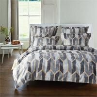 家纺床上用品美国尺寸磨毛印花三件套 HX-SD-45 120g 美国Queen 枕套51*66*2 被套229*