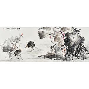 朱勇180x70cm花鸟画《清气》gh01289