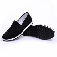 老北京布鞋男春季防滑开车爸爸黑色工作单鞋休闲鞋一脚蹬棉鞋透气
