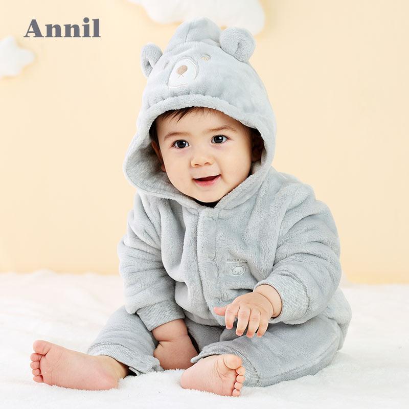 【每满200-120】安奈儿童装婴儿连体服冬季新款加绒加厚保暖外出服爬行服TM747703 安奈儿童装,给你不一样的舒适