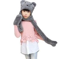 帽子围巾手套三件套秋冬保暖儿童套装男童女童可爱三件套