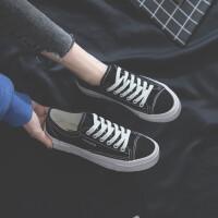 芥末绿帆布鞋女2019春季学生港味复古ins板鞋女韩版百搭网红女鞋