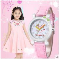 卡通时尚数字表盘手表甜美清新女孩可爱防水石英皮带手表儿童手表