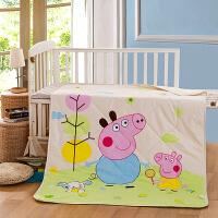 御目 儿童夏凉被 全棉空调被幼儿园纯棉夏被宝宝卡通夏凉被毯子可水洗机洗薄被子家居用品