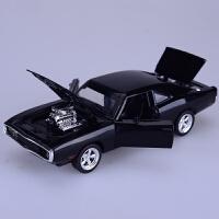 仿真老爷车道奇战马合金车模速度与激情模型金属玩具车汽车肌肉车
