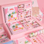 可爱少女心加厚线圈手账本套装精致手帐本礼盒日系甜美风笔记本子