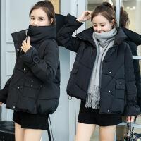 №【2019新款】反季女短款2018新款韩版面包服学生羽绒加厚外套