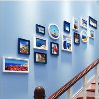 创意欧式楼梯照片墙夹子 悬挂 无痕钉相片墙装饰客厅相框挂墙-组合