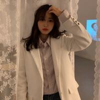 chic设计感网红小西装外套女春秋2019新款韩版宽松灯芯绒西服上衣