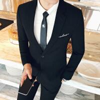 发型师单扣小西装男韩版个性潮流西服青年夜店时尚单西秋冬季男装