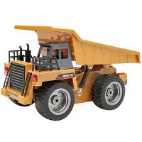 遥控工程车翻斗车电动自卸车拉土大号儿童装载运输卸货车玩具