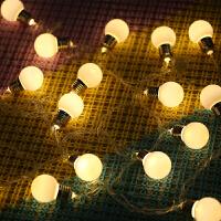 耀庆LED彩灯闪灯串灯5厘米大圆球灯婚庆家用装饰小灯泡节日装饰灯