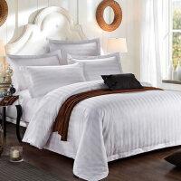 酒店宾馆床上四件套 缎条高纱织加厚四件套布草床上用品