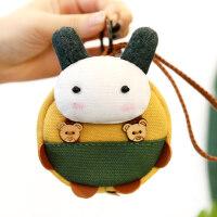 迷你可爱硬币袋韩国帆布小圆包女拼接手工趣味零钱包