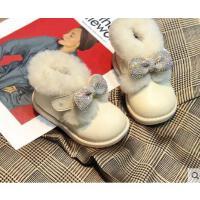 皮毛一体小童防水儿童女童婴儿防滑冬季宝宝棉鞋幼儿女宝宝雪地靴