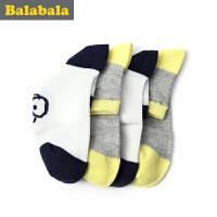 巴拉巴拉童装男童袜子小童宝宝童袜2017夏季新款儿童棉袜男2双装