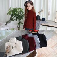 韩版童装高弹高领打底衫多色柔软童t秋冬上衣童装长袖