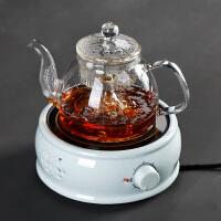 电陶炉煮茶小型静音养生壶玻璃电煮蒸茶壶烧水家用加厚蒸汽壶黑茶