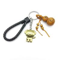 十二生肖狗鼠鸡猴猪钥匙扣桃木葫芦汽车包包挂件男女创意礼品