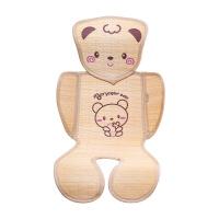 【】放心购 婴儿推车凉席坐垫新生儿童宝宝餐椅通用安全座椅夏季透气婴儿竹席 可爱小熊系列 其它 图片色