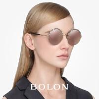 BOLON暴龙太阳眼镜男女新款 圆形圆框复古圆脸优雅墨镜潮BL2531