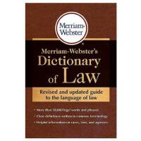 英文Merriam-Webster's Dictionary of Law韦氏法律词典