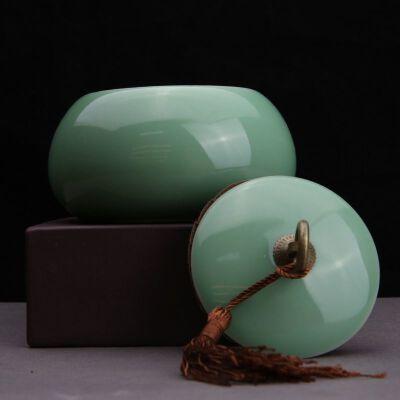 【只有一个】弟窑(龙泉窑)粉青釉茶叶罐弟窑(龙泉窑)粉青釉茶叶罐