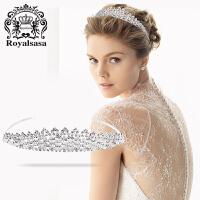 皇家莎莎新娘皇冠头饰韩式婚礼结婚仿水晶饰品公式发饰婚纱配饰品